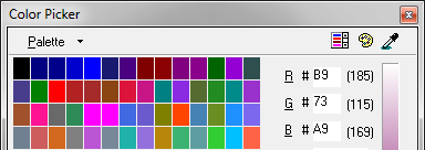 TopStyle Light – Color Picker